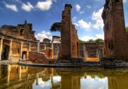 Theater at Hadrian's Villa in Tivoli - by Riccardo Cuppini