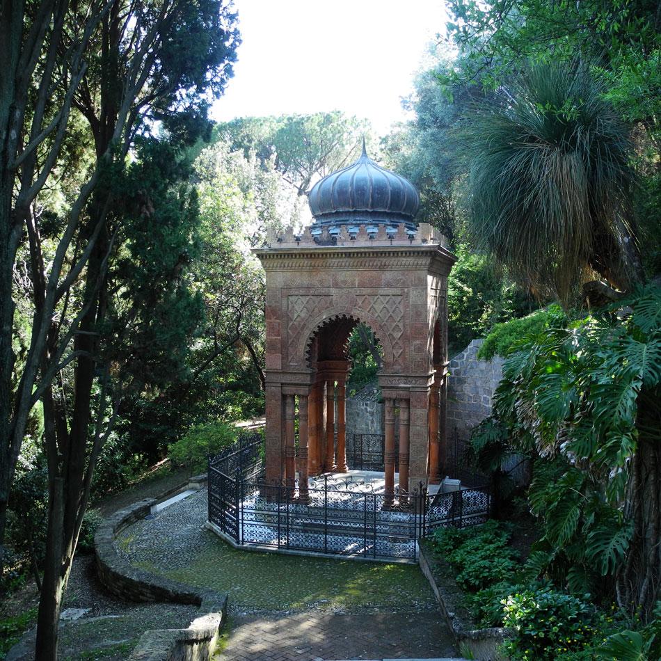 Hanbury Gardens, the tomb of Sir Thomas Hanbury and his wife Katherine Pease