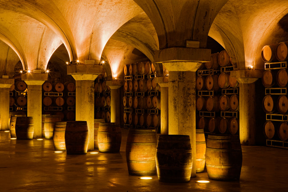 Villa Sparina, wine cellars