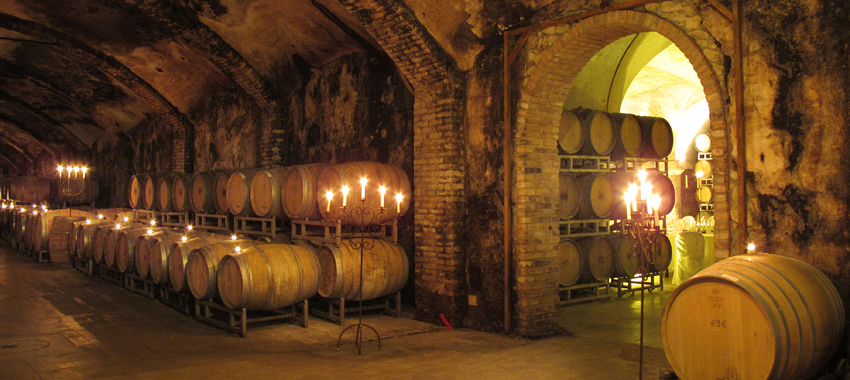 18th century wine cellars. Photo © Villa Sparina