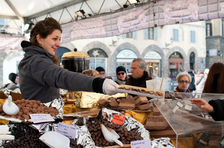 Fiera del Cioccolato Artigianale in Florence. Photo by Alessandro Scarcella