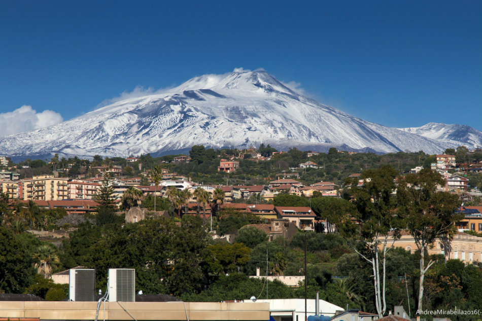 Mt. Etna in the winter