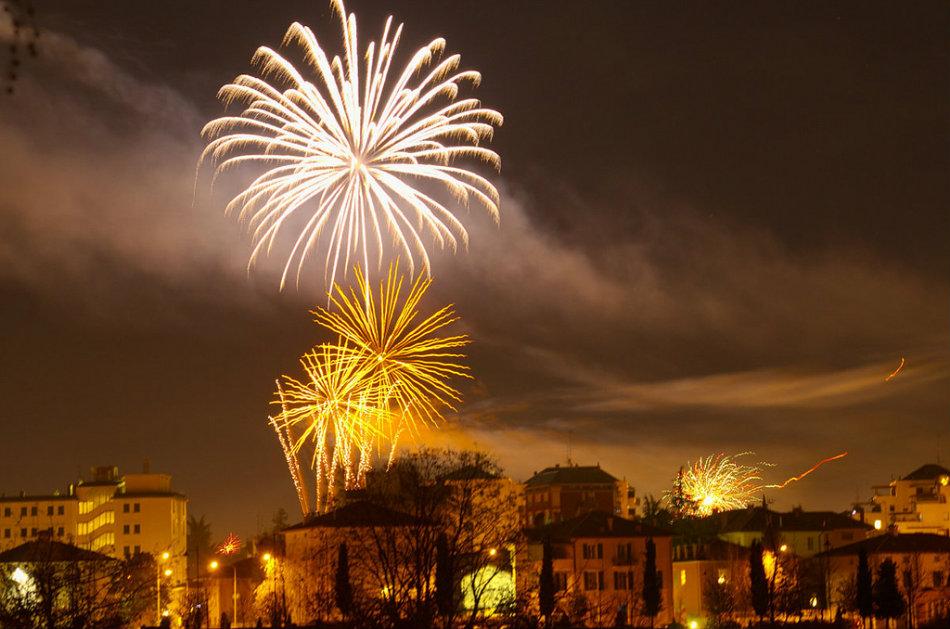 Fireworks in Udine, Italy
