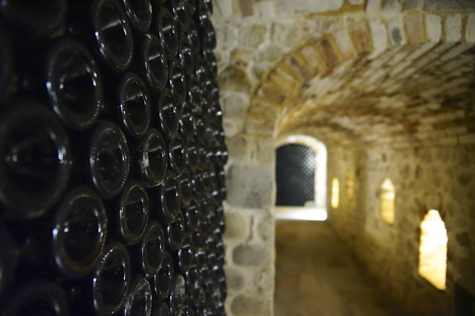 Cellars of cru wines by Cascina Chicco