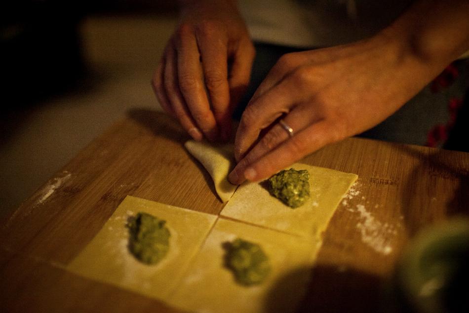 Making tortellini - by Matthew Oliphant