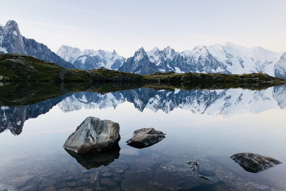 A lake high in the Alps - by Ludovic Fremondiere
