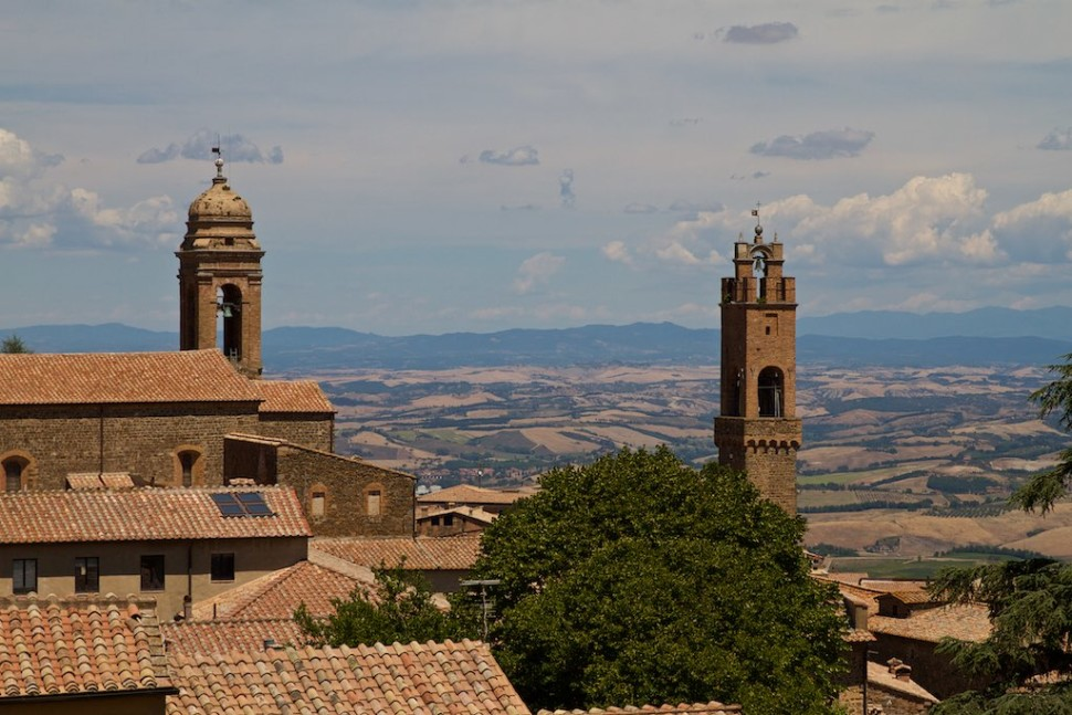 The towers of Montalcino - by Michael Tracy