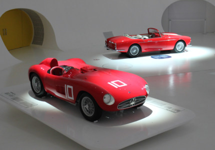 model maserati cars on display