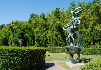 A sculpture at the Pinocchio Park in Collodi