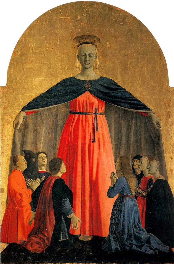 A photo of the painting La Madonna della Misericordia by Piero della Francesca