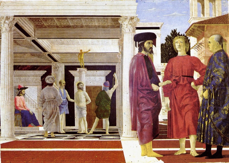 Photo of the painting the flagellation of christ by Piero della Francesca