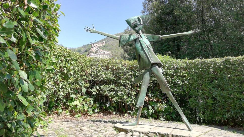 A statue of Pinocchio in the Pinocchio Park in Collodi