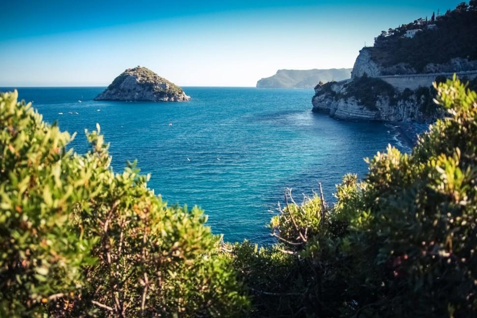 Bergeggi island is a great location to scuba dive in liguria
