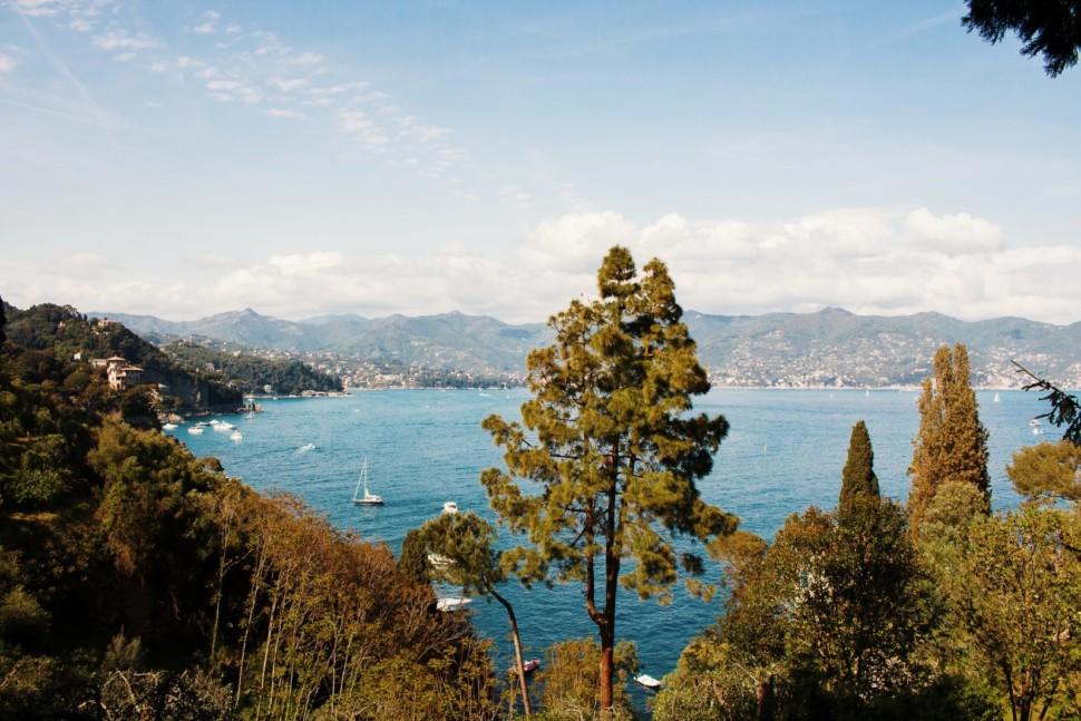 the view of Portofino National Park a top spot to scuba dive in Liguria