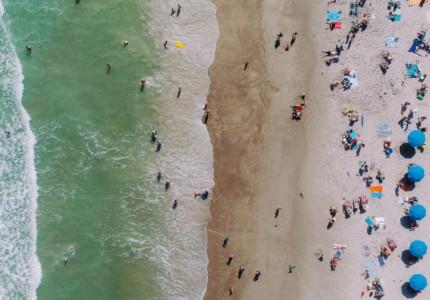 a busy beach