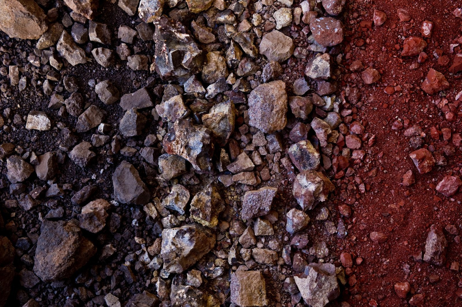 A composite of various soils that contribute to Inama's volcanic wines